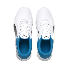 Thumbnail 6 of Tenaz Indoor Teamsport Shoes, White-Black-Bleu Azur-Gum, medium