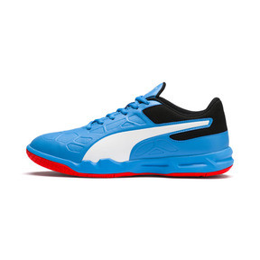 Thumbnail 1 of Tenaz Indoor Teamsport Shoes, Bleu Azur-White-Black-Red, medium