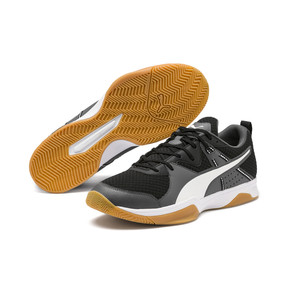 Thumbnail 2 of PUMA Stoker.18 Indoor Training Shoes, Black-White-Iron Gate-Gum, medium