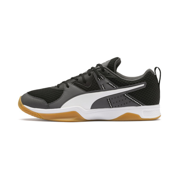 PUMA Stoker.18 Indoor Training Shoes, Black-White-Iron Gate-Gum, large