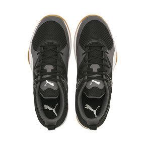 Thumbnail 6 of PUMA Stoker.18 Indoor Training Shoes, Black-White-Iron Gate-Gum, medium
