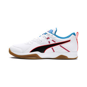 Thumbnail 1 of PUMA Stoker.18 Indoor Training Shoes, White-Black-Red-Bleu-Gum, medium