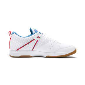 Thumbnail 5 of PUMA Stoker.18 Indoor Training Shoes, White-Black-Red-Bleu-Gum, medium