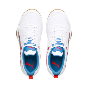 Thumbnail 6 of PUMA Stoker.18 Indoor Training Shoes, White-Black-Red-Bleu-Gum, medium