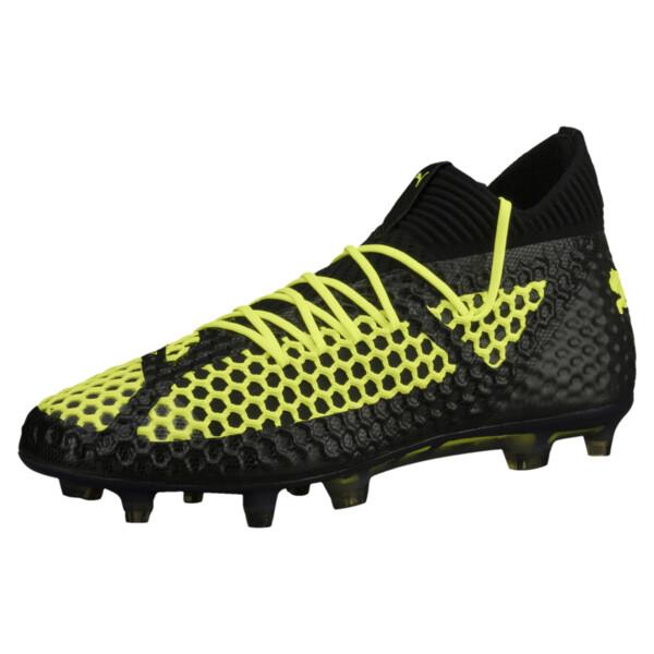 d85531b26 FUTURE 18.1 NETFIT FG/AG Men's Soccer Cleats, Black-Black-Yellow,