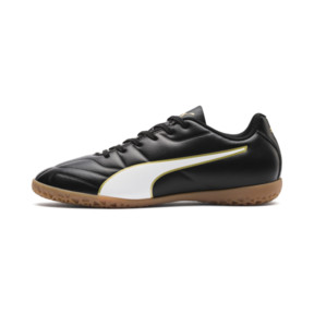 Thumbnail 1 of キッズ プーマ クラシコ C II IT JR (18-24.5cm), Puma Black-Puma White-Gold, medium-JPN