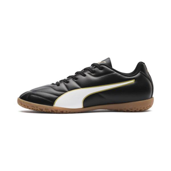 キッズ プーマ クラシコ C II IT JR (18-24.5cm), Puma Black-Puma White-Gold, large-JPN
