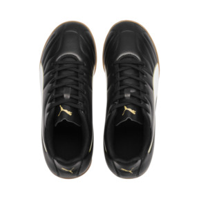 Thumbnail 6 of キッズ プーマ クラシコ C II IT JR (18-24.5cm), Puma Black-Puma White-Gold, medium-JPN