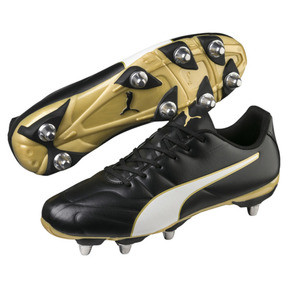 Thumbnail 2 of Chaussure de rugby Classico C II H8 pour homme, Black-White-Gold, medium