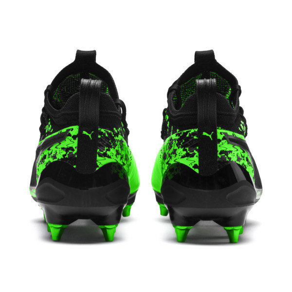 PUMA ONE 19.1 evoKNIT Mx SG Herren Fußballschuhe, Green Gecko-Black-Gray, large