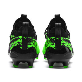 Thumbnail 4 of Chaussure de foot PUMA ONE 19.1 evoKNIT FG/AG pour homme, Green Gecko-Black-Gray, medium