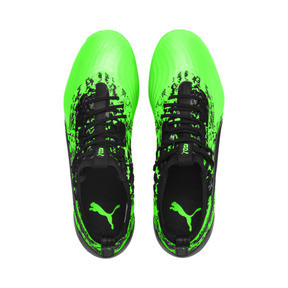 Thumbnail 7 of Chaussure de foot PUMA ONE 19.1 evoKNIT FG/AG pour homme, Green Gecko-Black-Gray, medium