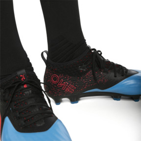 Thumbnail 3 of PUMA ONE 19.2 FG/AG Herren Fußballschuhe, Bleu Azur-Red Blast-Black, medium