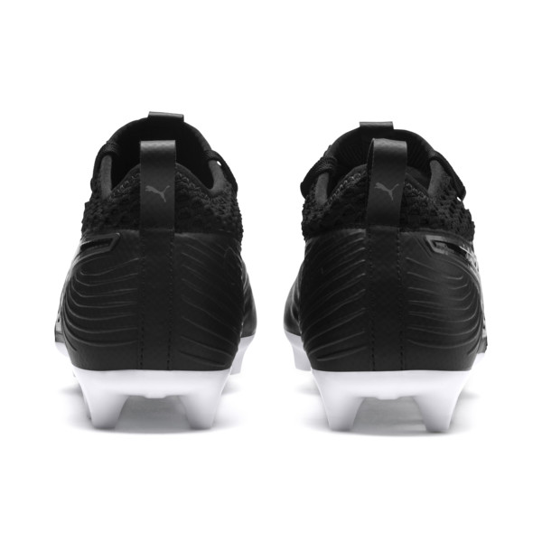 PUMA ONE 19.2 FG/AG Men's Football Boots, Puma Black-Puma Black-White, large