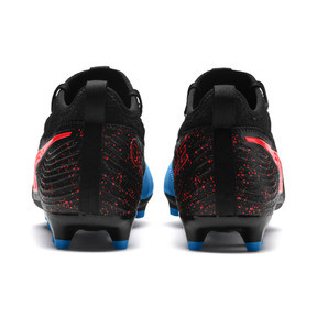 Thumbnail 3 of PUMA ONE 19.3 FG/AG Men's Football Boots, Bleu Azur-Red Blast-Black, medium