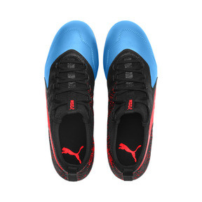 Thumbnail 6 of PUMA ONE 19.3 FG/AG Men's Football Boots, Bleu Azur-Red Blast-Black, medium