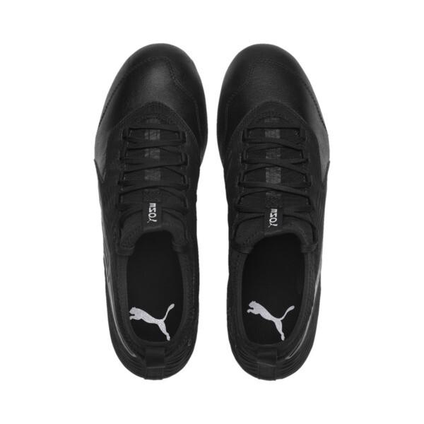 PUMA ONE 19.3 FG/AG Men's Soccer Cleats, Puma Black-Puma Black-White, large