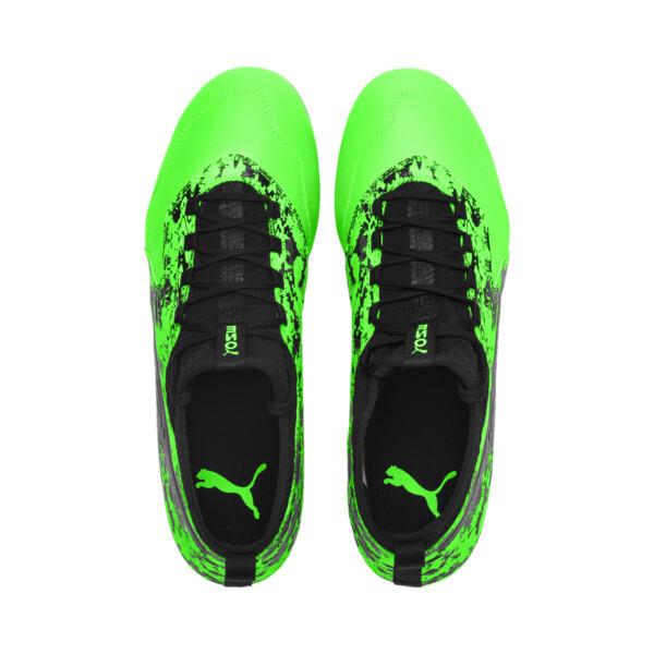 PUMA ONE 19.3 FG/AG Men's Soccer Cleats, Green Gecko-Black-Gray, large