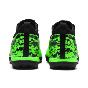 Thumbnail 3 of PUMA ONE 19.3 TT Men's Soccer Shoes, Green Gecko-Black-Gray, medium