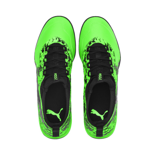 PUMA ONE 19.3 TT Men's Soccer Shoes, Green Gecko-Black-Gray, large
