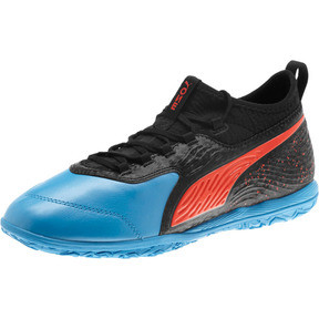Thumbnail 1 of PUMA ONE 19.3 IT Men's Soccer Shoes, Bleu Azur-Red Blast-Black, medium