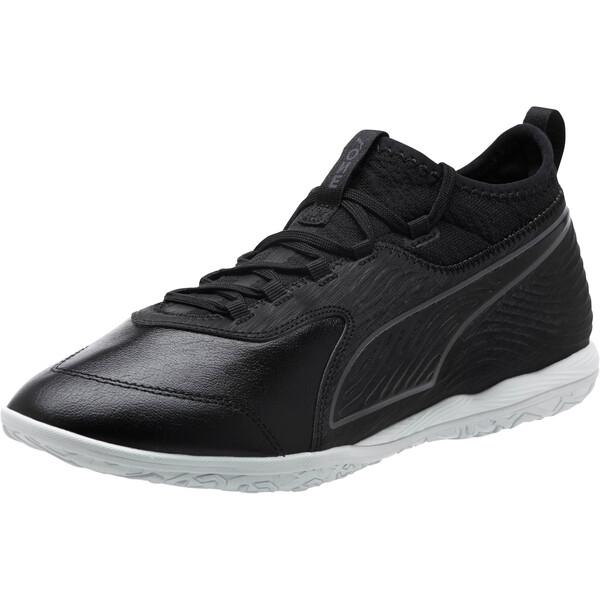 PUMA ONE 19.3 IT Men's Soccer Shoes, Puma Black-Puma Black-White, large