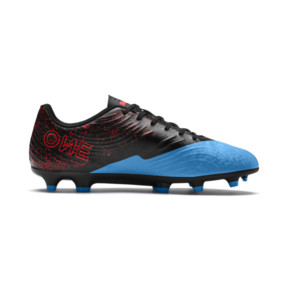 Thumbnail 5 of PUMA ONE 19.4 FG/AG Men's Football Boots, Bleu Azur-Red Blast-Black, medium