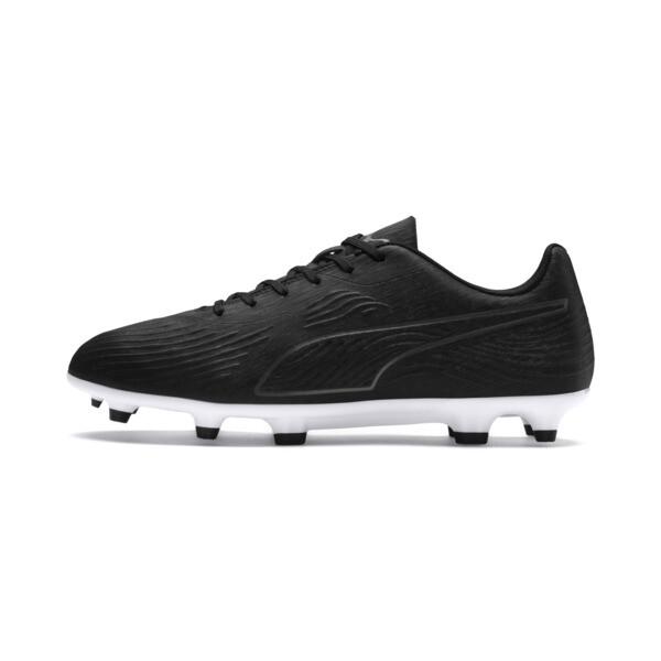 PUMA ONE 19.4 FG/AG Men's Football Boots, Puma Black-Puma Black-White, large