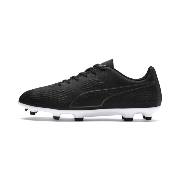 PUMA ONE 19.4 FG/AG Men's Soccer Cleats, Puma Black-Puma Black-White, large
