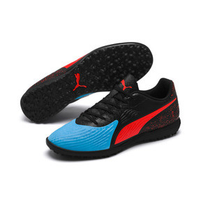 Thumbnail 2 of PUMA ONE 19.4 TT Football Boot, Bleu Azur-Red Blast-Black, medium