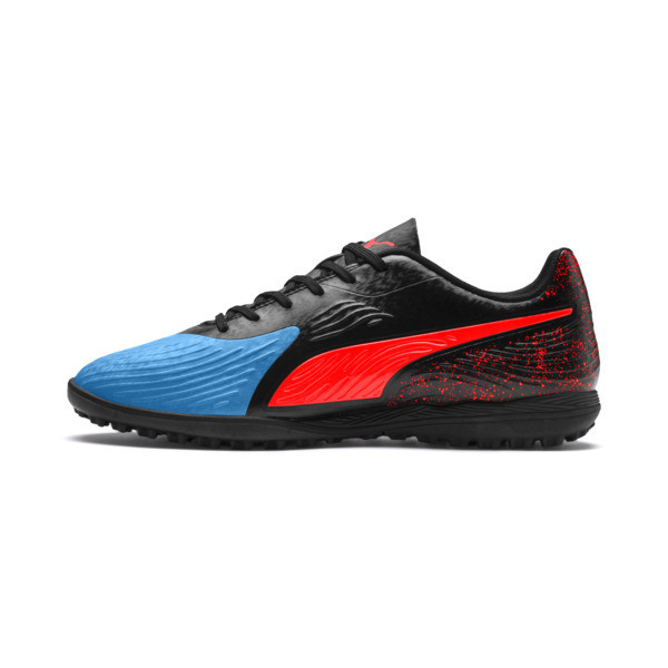 PUMA ONE 19.4 TT Football Boot, Bleu Azur-Red Blast-Black, large