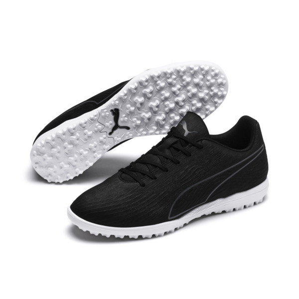PUMA ONE 19.4 TT Men's Soccer Cleats, Puma Black-Puma Black-White, large