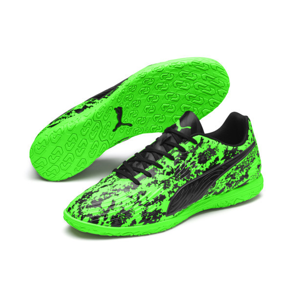 PUMA ONE 19.4 IT Herren Fußballschuhe, Green Gecko-Black-Gray, large