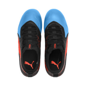 Thumbnail 6 of PUMA ONE 19.3 FG/AG Youth Football Boots, Bleu Azur-Red Blast-Black, medium