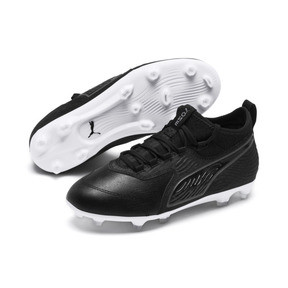 Thumbnail 2 of PUMA ONE 19.3 FG/AG Youth Football Boots, Puma Black-Puma Black-White, medium