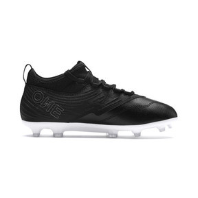 Thumbnail 5 of PUMA ONE 19.3 FG/AG Youth Football Boots, Puma Black-Puma Black-White, medium