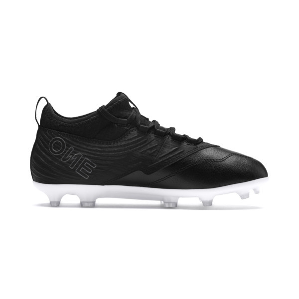 Chaussure de foot PUMA ONE 19.3 FG/AG pour enfant, Puma Black-Puma Black-White, large