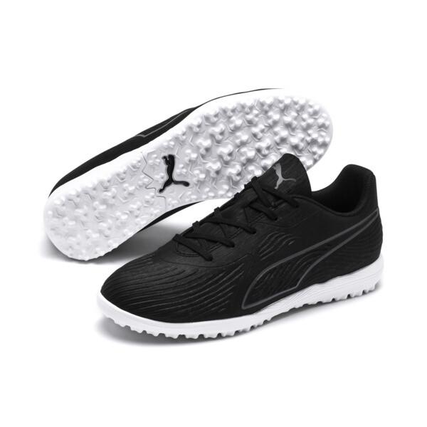 キッズ プーマ ワン 19.4 ターフトレーニング JR (17-24.5cm), Puma Black-Puma Black-White, large-JPN