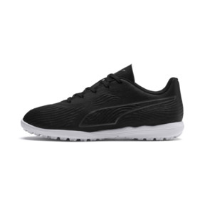 Thumbnail 1 of PUMA ONE 19.4 TT Soccer Cleats JR, Puma Black-Puma Black-White, medium
