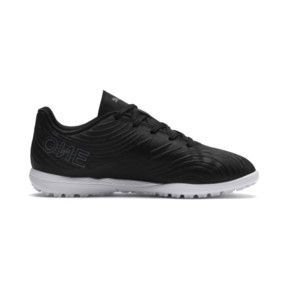 Thumbnail 5 of PUMA ONE 19.4 TT Soccer Cleats JR, Puma Black-Puma Black-White, medium