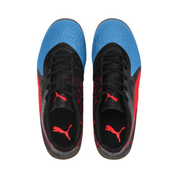 キッズ プーマ ワン 19.4 インドアトレーニング JR (17-24.5cm), Bleu Azur-Red-Black-Gum, large-JPN