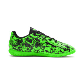 Thumbnail 5 of PUMA ONE 19.4 IT Soccer Shoes JR, Green Gecko-Black-Gray, medium