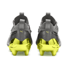 Thumbnail 3 of Chaussure de foot PUMA ONE 19.1 Limited Edition FG/AG pour homme, Puma Aged Silver-Gray-Yellow, medium
