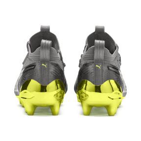 Thumbnail 3 of PUMA ONE 19.1 Ltd. Ed. FG/AG Men's Soccer Cleats, Puma Aged Silver-Gray-Yellow, medium