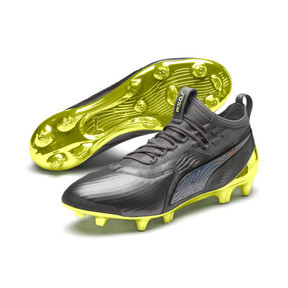 Thumbnail 2 of PUMA ONE 19.1 Limited Edition FG/AG Herren Fußballschuhe, Puma Aged Silver-Gray-Yellow, medium
