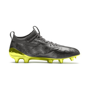 Thumbnail 5 of Chaussure de foot PUMA ONE 19.1 Limited Edition FG/AG pour homme, Puma Aged Silver-Gray-Yellow, medium