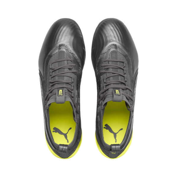 PUMA ONE 19.1 Limited Edition FG/AG Men's Football Boots, Puma Aged Silver-Gray-Yellow, large
