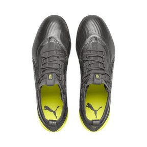 Thumbnail 6 of PUMA ONE 19.1 Ltd. Ed. FG/AG Men's Soccer Cleats, Puma Aged Silver-Gray-Yellow, medium
