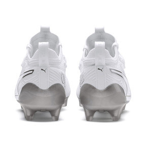 Thumbnail 4 of PUMA ONE 19.1 Ltd. Ed. FG/AG Men's Soccer Cleats, White-White-Charcoal Gray, medium