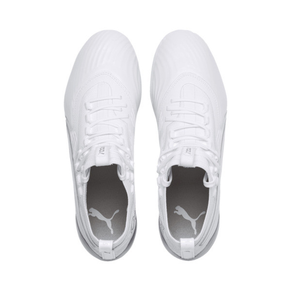 PUMA ONE 19.1 Ltd. Ed. FG/AG Men's Soccer Cleats, White-White-Charcoal Gray, large